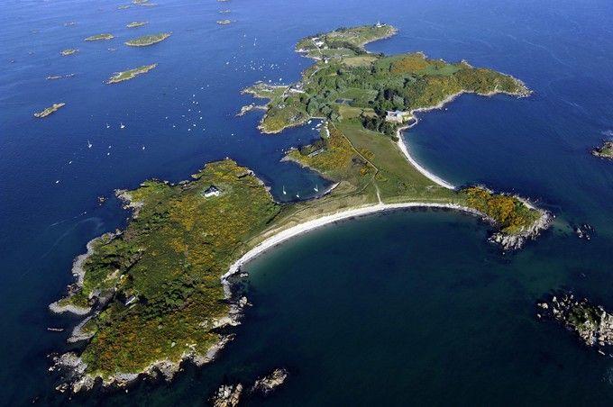 Archipel des îles Chausey. La Manche vue du ciel : spectaculaire ! Manche (50)