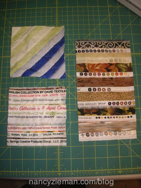 Nancy Zieman's Blog Selvage Quilt by Lynn DeRolf - How to Stitch a Selvage Quilt Block