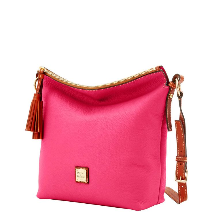 Dooney & Bourke   Pebble Grain Small Dixon   Holiday Fashion    Pink   Pink Handbag   Pink Accessory   Pink Accessories   Pink Purse   Fashion   Style