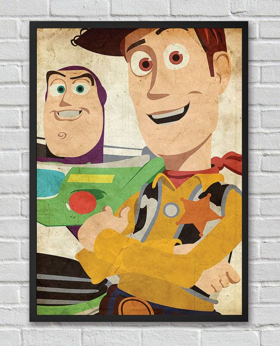 Disney Pixar's Toy Story inspired vintage poster by FlickGeek, $11.00