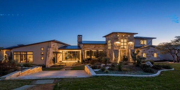 Small House Design with Contemporary Stone Home Exterior