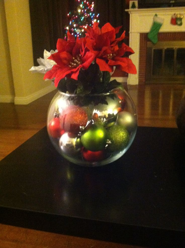 christmas centerpiece holidays pinterest
