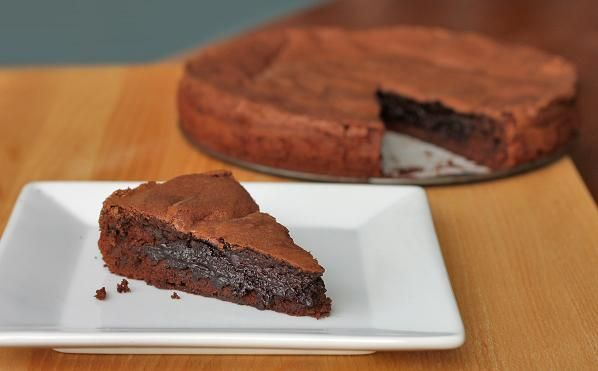 Giant Molten Dark Chocolate Brownie Cake