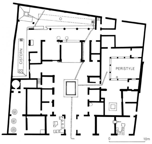 Plan Of The House Of Sallust, Pompeii