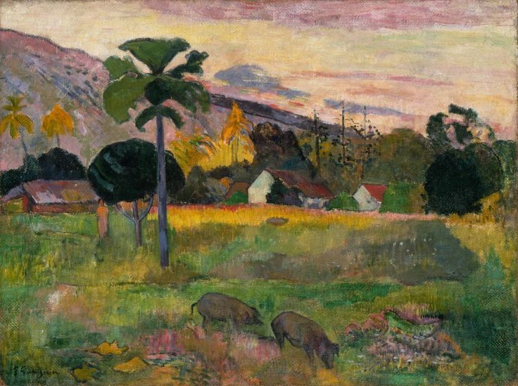 Paul Gauguin, Haere Mai, 1891. Oil on burlap, 28 1/2 x 36 inches (72.4 x 91.4 cm)
