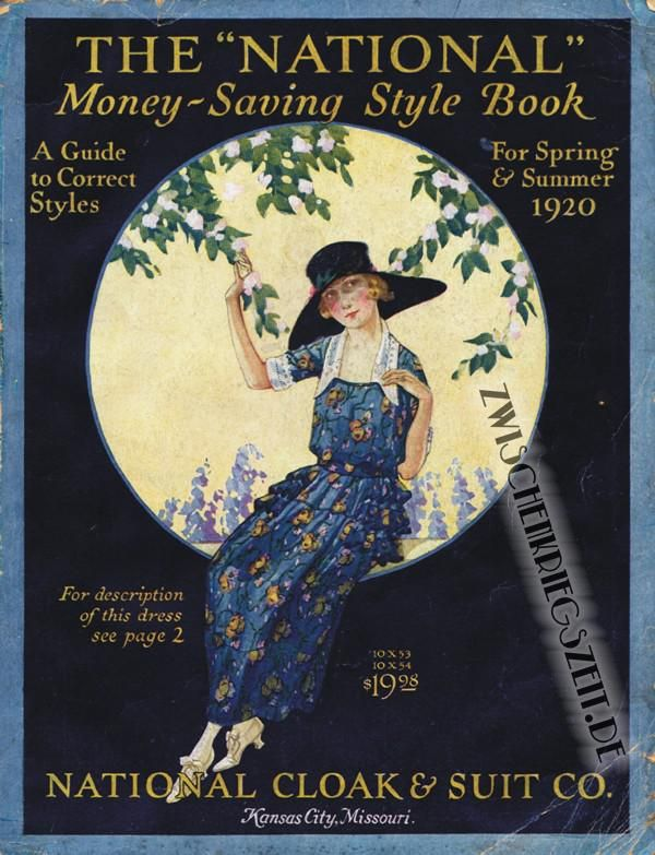 1920 National Cloak & Suit Co. Katalog > 1920 National Cloak & Suit Company Cover/ Весь каталог здесь: http://www.zwischenkriegszeit.de/photogallery.php?album_id=45