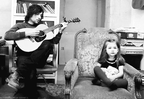 Scott Avett and his daughter Eleanor