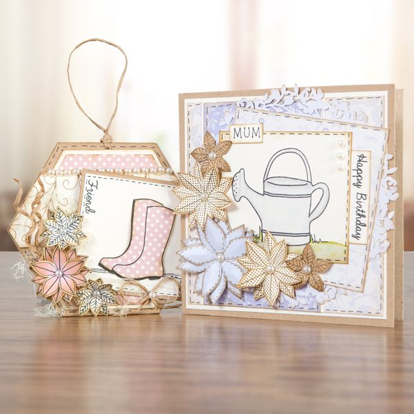 Buy Dreamees Gracious Gardens Square Stamp Set from CreateAndCraft.tv