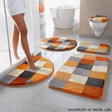 Resultado de imagen para como hacer juegos de baño con alfombra