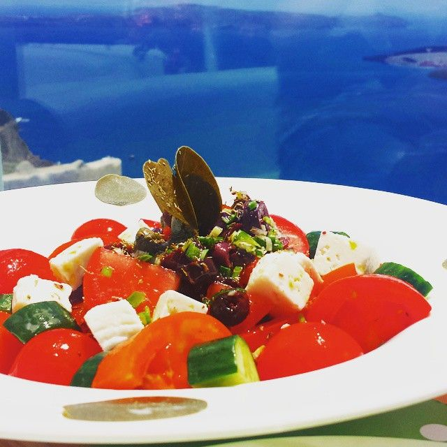 Gastronomy at its best!  Simple and exquisite dishes are made only for you onboard of our cruise ships!  Photo Credits: Ευτύχης Μπλέτσας  #Celestyalcruises #cuisine #food #traditional #salad #onboard #travel #foodphotography
