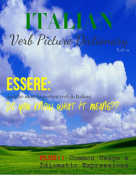 Italian verb picture dictionary
