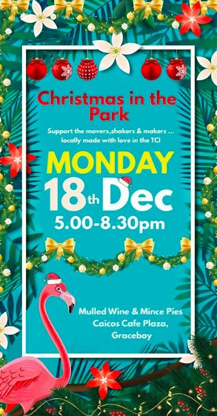 Come get your last minute Christmas Shopping at the Park.... Monday 18th Dec, 5-8.30pm at Caicos Cafe Plaza..... Driftwood Studios, Atelys..Tradewind Colours to name a few of the vendors ....shop local this christmas & support local artisans. Caicos Cafe Plaza, Grace Bay Road. #turkscaicos #christmasshopping #Atelys #driftwoodstudios #coldwellbanker