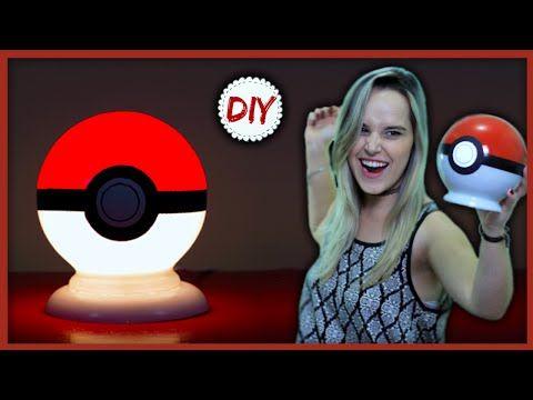 DIY: Luminária Pokebola - Faça Você Mesmo - YouTube                                                                                                                                                      Mais