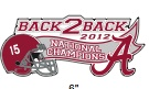 Alabama 2012 BCS Championship car tags, decals and magnets available at Blue Bumble Bee