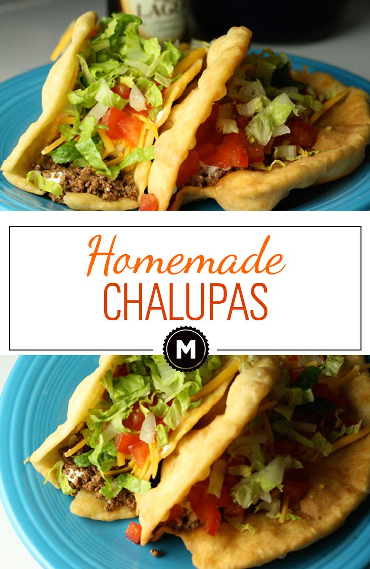 So much better than Taco Bell, these homemade Chalupas shells can be filled pretty much any Tex-Mex filling!