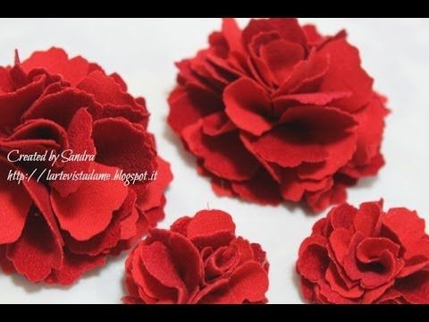 Fiori di stoffa tutorial / Spille tutorial - Fabric Flowers - Lartevistadame - YouTube
