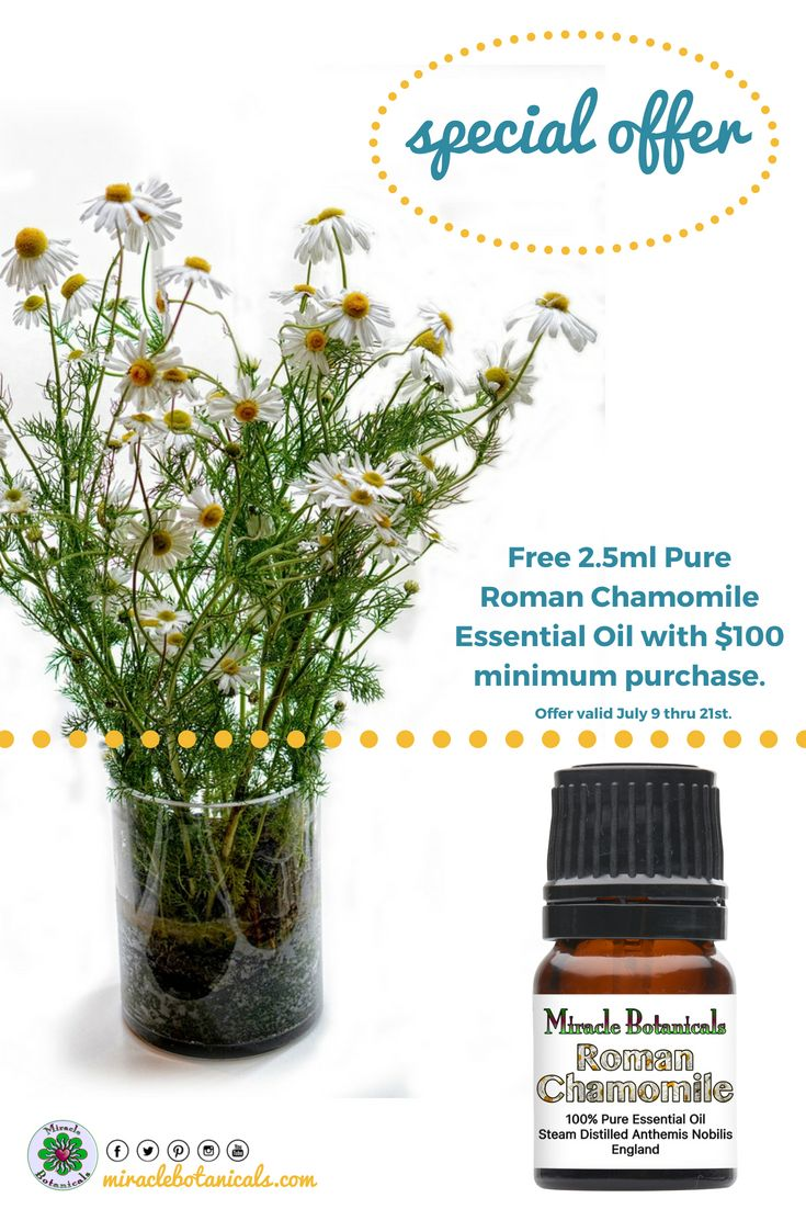 Best 50 miracle botanicals new products images on pinterest dont miss our special offer for july free 25ml pure roman chamomile essential oil with 100 minimum purchase july 9 through july 21st fandeluxe Image collections