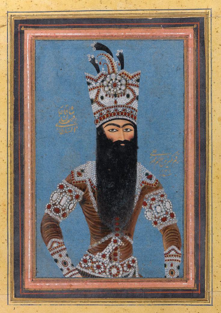 Mihr Ali (Iranian, active ca. 1800-1830).Portrait of Fath Ali Shah Qajar, 1815. Brooklyn Museum