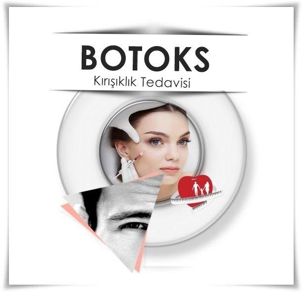 Botoks | Botox  -Alın bölgesindeki yatay çizgiler, -İki kaş arasında yer alan ve çatık kaş görünümüne yol açan çizgiler, -Her iki kaş yan taraflarının yukarı kaldırılması -Her iki göz yan tarafında yer alan ve yüz yaşlanmasını gösteren çizgiler ve kırışıklıklar (kaz ayağı çizgileri ) -Üst ve alt dudaktaki dikey çizgiler (sigara içimi çizgileri ) -Eller, ayaklar,  ve koltuk altındaki aşırı terlemenin tedavisi için Botoks kullanılabilir…
