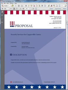 Security Guard Services Sample Proposal