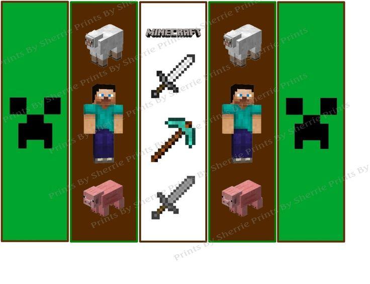 Free Printable Minecraft Bookmarks Minecraft Printables Minecraft Bookmarks Printable