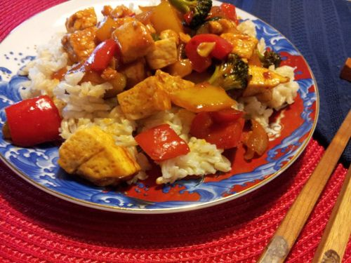 Kung Pao Tofu.  Love this--easy and yummy!