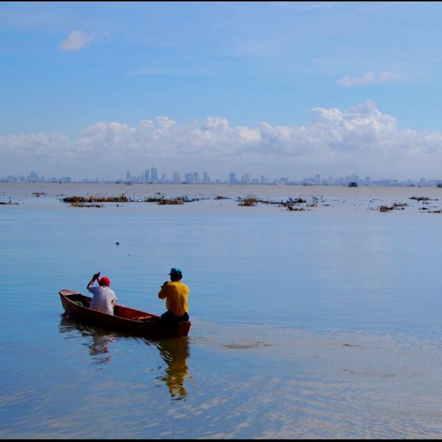 View of Makati City from Island Cove, Cavite