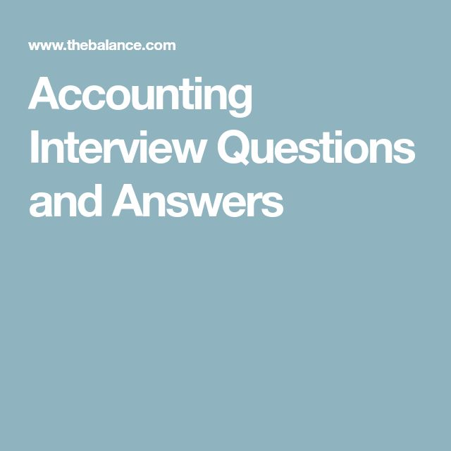 accounting job interview questions and answers pdf