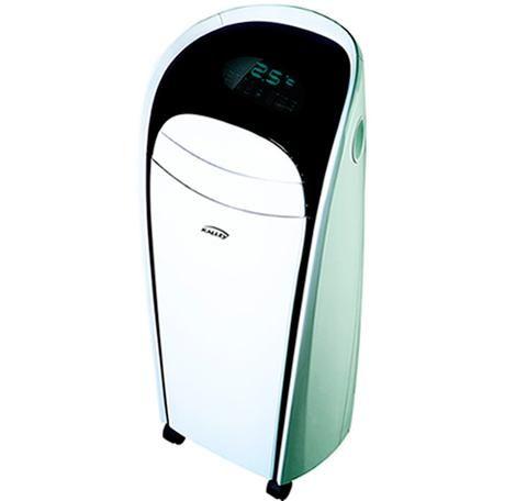 Equipos aire acondicionado portátiles. Su mayor virtud es que no requieren ningún tipo de instalación y que se pueden cambiar de lugar en cualquier momento.
