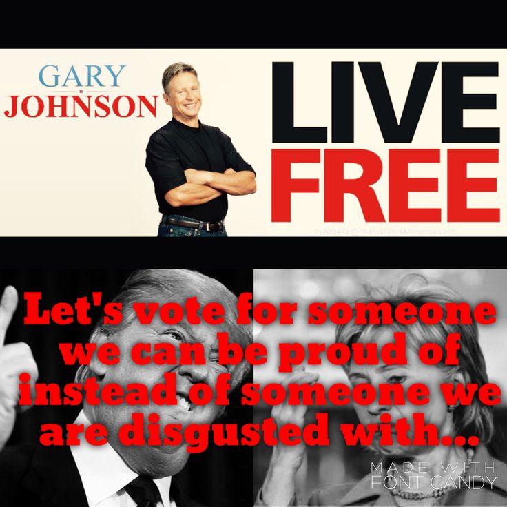 #Gary Johnson 2016 #Third Party
