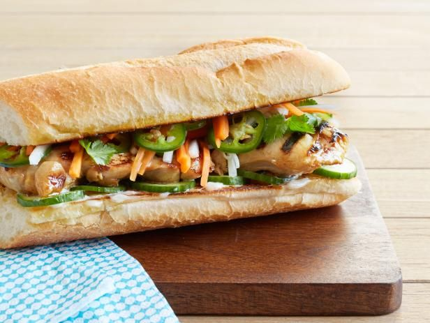 Get Grilled Vietnamese Chicken Sandwiches Recipe from Food Network
