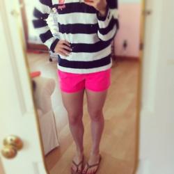 Hot Pink shorts, coming next week to Audacious!!!