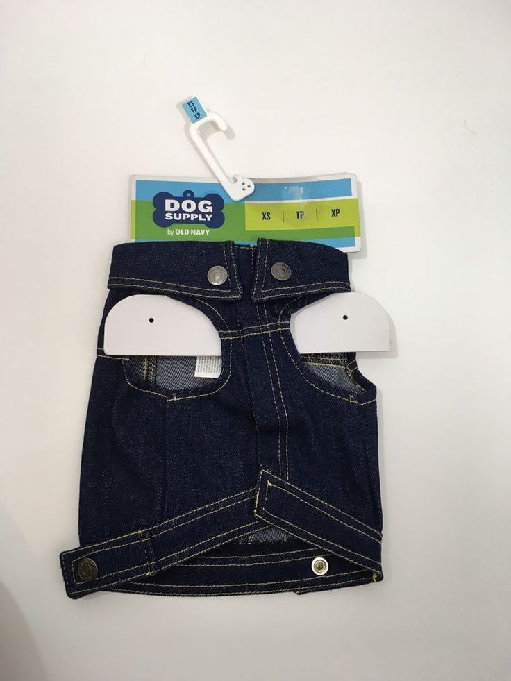 Dog Supply By Old Navy Dark Denim Vest Shirt  Outfit XS  | eBay