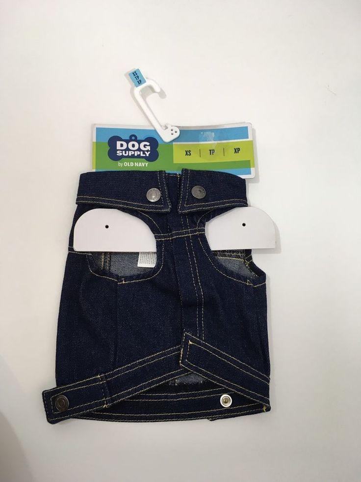 Dog Supply By Old Navy Dark Denim Vest Shirt  Outfit XS  | eBay