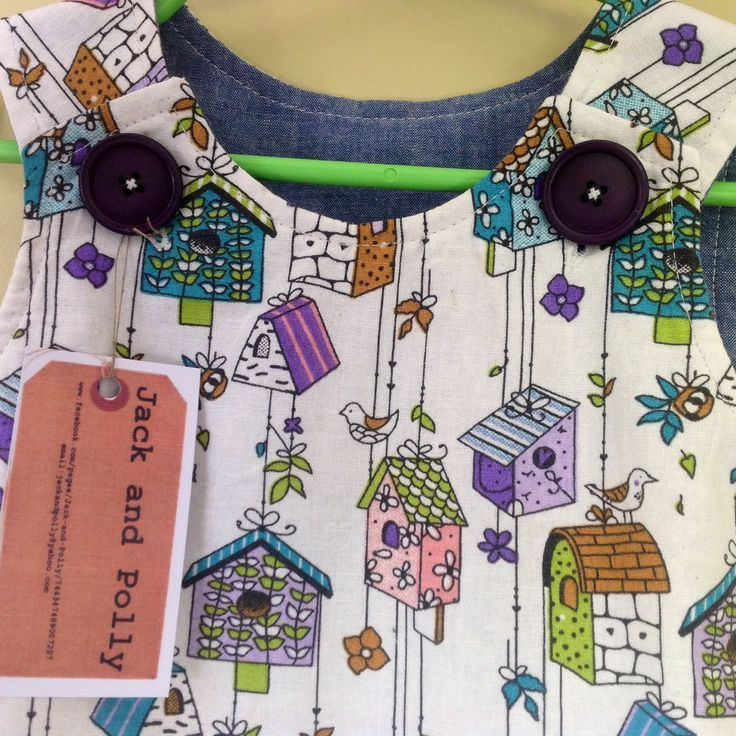 Girls+Dress/Pinafore+size+2+cotton+birdhouse+party+Dress+summer+sleeveless