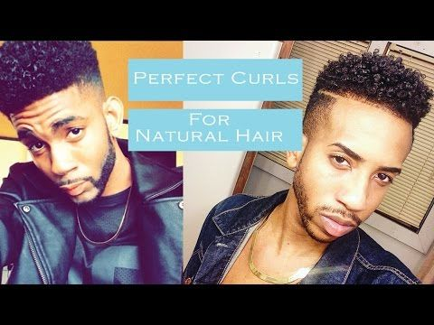 how to get perfect curly hair for black men natural