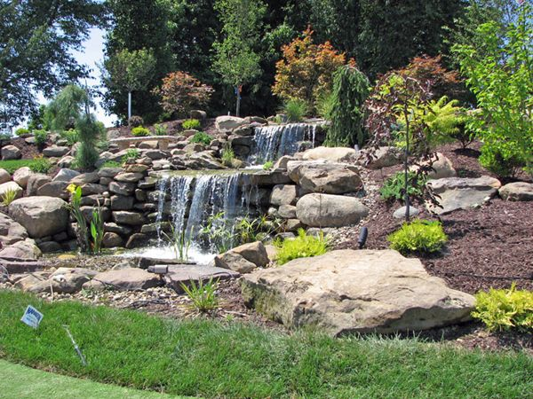 49 best images about llllllll on pinterest backyard for Waterfall garden feature
