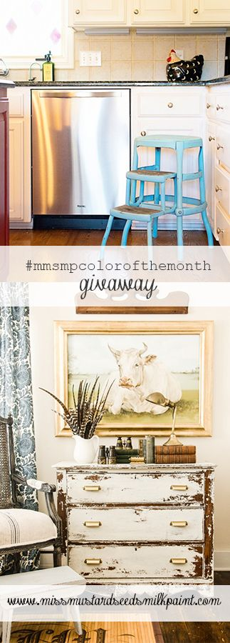 MMS Milk Paint color of the month giveaway - Eulalie's Sky & Linen