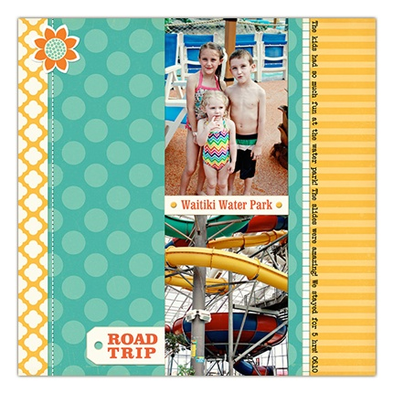 cute and simple two photo page by Crystal Wilkerson