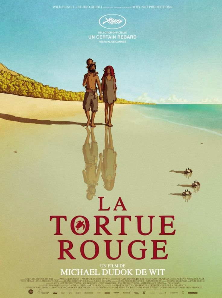 The Red Turtle (2016)  La tortue rouge (original title) PG  -  The dialogue-less film follows the major life stages of a castaway on a deserted tropical island populated by turtles, crabs and birds.  -   Director: Michael Dudok de Wit  -   Writers: Michael Dudok de Wit (story), Pascale Ferran (screenplay)   -    ANIMATION / FANTASY  -  Released:  Janaury 20, 2017