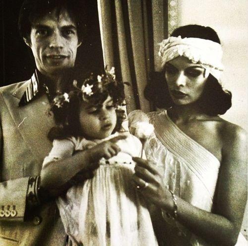 Bianca, Jade & Mick Jagger