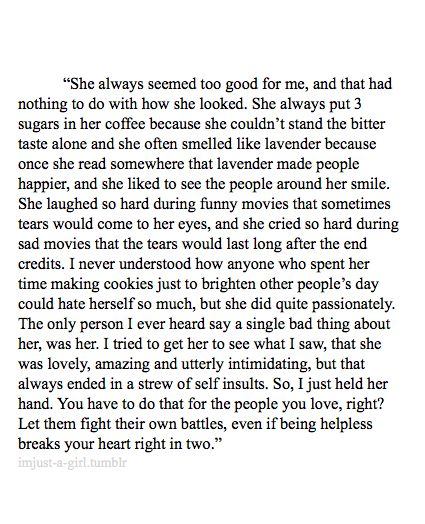 Imjust-a-girl: How he loved her (a short story i will probably...