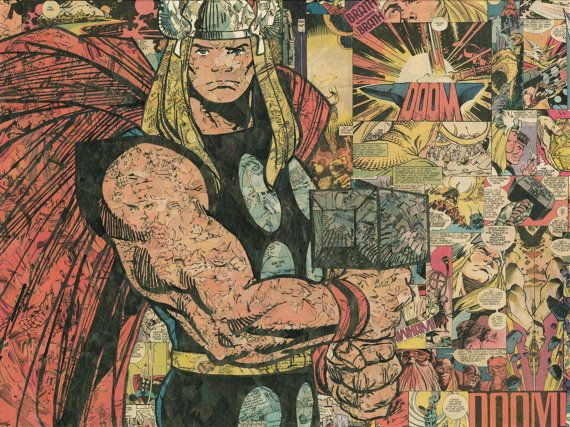 Thor 18x24 Giclee Print by ComicReliefOriginals on Etsy, $75.00