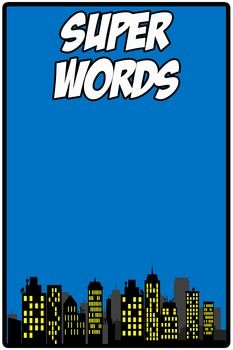This is a free Superhero Word Wall heading for you to add to your word wall decor. You can write or post the words you are spotlighting for the week. Enjoy!