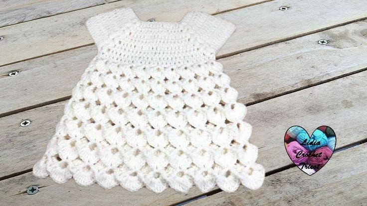 Dress all sizes crochet (english subtitles)