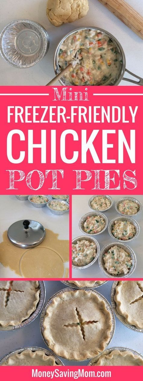 These mini individual chicken pot pies are freezer-friendly and can be made ahead of time! They're perfect for on-the-go lunches or dinners! They also work great for single people, busy schedules, and work/school lunches!
