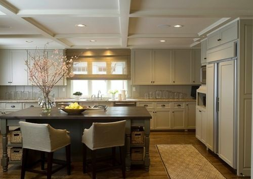 Wall Units Hit The Ceiling... Another Option For Low Ceiling In A Kitchen