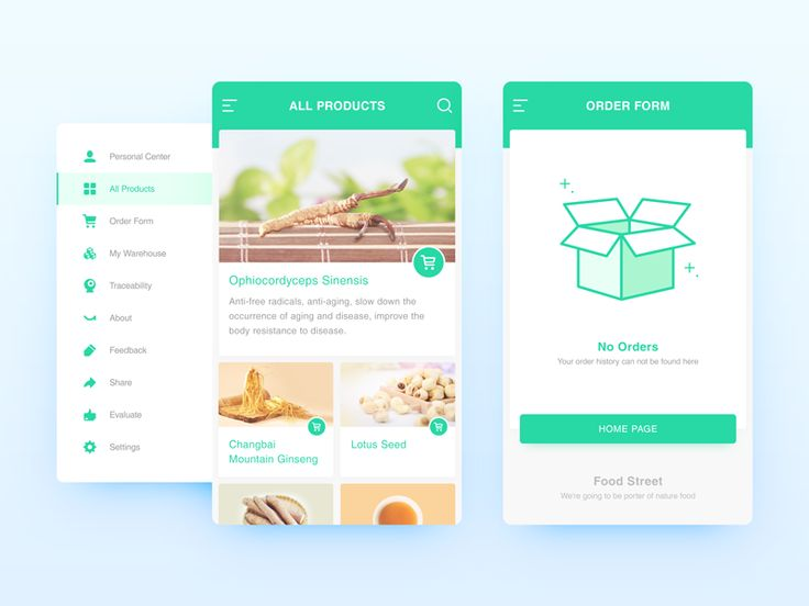 Food interface _02 by bill_uid