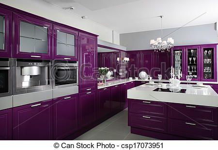 gedurfd!!!!  een paarse keuken