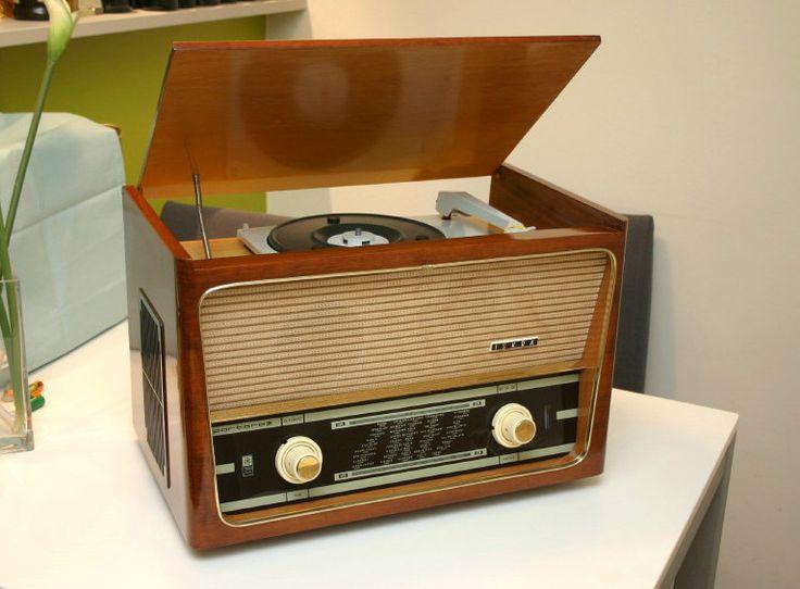 Tube Radio Portorož Iskra Radio Set And Record Player